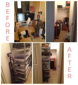 Christina Frederick Blog. Organized Hallway closet